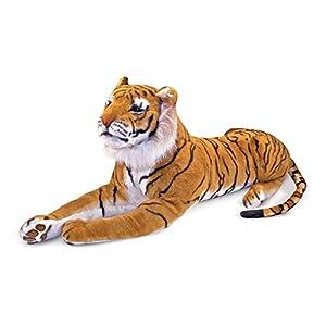 Melissa & Doug- Tiger Giant Leones y Otros felinos Grandes Juguete de Pluche, Multicolor (Melissa&Doug 12103)