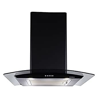 Elica Kitchen Chimney 60 cm 1100 M3/H (ESCG BF 60 Nero, Black)