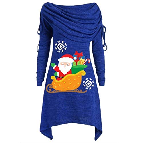 MRULIC Damen Sweatshirt Weihnachten Jumper Frauen Herbst Winter Casual Drop Schulter Langarm Pullover Tops Bluse Shirt