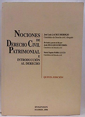 Nociones de Derecho Civil Patrimonial e introducción al derecho