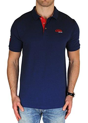 M.Conte Herren Poloshirt Kurzarm Polohemd T-Shirt Polo-Shirt Pique Basic Men's Plain Royal Blau M L XL XXL XXXL Romano Dunkel-Blau