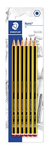 Staedtler 120-2BK6D Noris - Lápices (mina HB, 6 unidades), color negro
