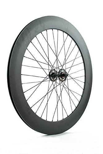 Ridewill Bike Vorderrad Singlespeed Fixie Piste Profil 70mm schwarz matt ((starr)/Front Single Speed Wheel Rim Height 70mm matt black (Fixed Wheel)
