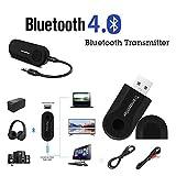 Fuibo (Jusqu'à 35% de Réduction) Transmetteur Bluetooth Adaptateur, Transmetteur Bluetooth Adaptateur, Émetteur Bluetooth sans Fil Portable pour TV Transmetteur Bluetooth (Noir)