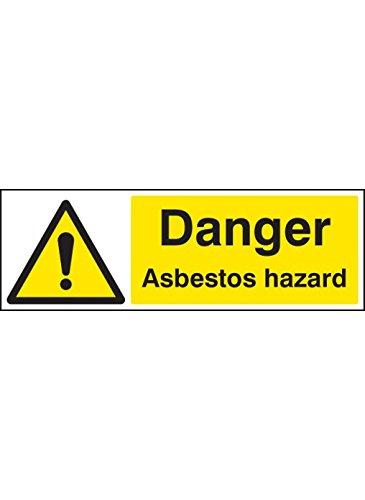 Caledonia Schilder 14409G Gefahr Asbest Warnzeichen, 300mm x 100mm, starrer Kunststoff