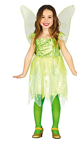 �r Mädchen Gr. 110 - 146, Größe:140/146 (Halloween Kostüm Tinkerbell)