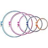 Handi-stitch Set Aros Bordado y Punto de Cruz 5 Piezas – 12.7cm a 28cm Pulgadas (Tallas 28,5cm, 23cm, 20cm, 16,5cm & 12,7cm) o 12.7-28cm - ¡Varios Colores!