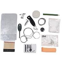 MFH 27115 - Set de supervivencia (caja impermeable), color negro