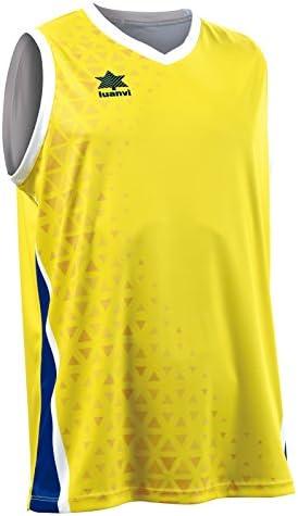 Luanvi Basket Cardiff Camiseta Deportiva sin Mangas, Hombre, Amarillo/Negro, L