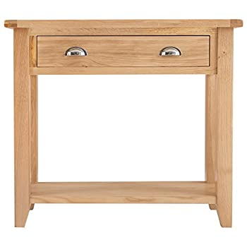 The Furniture Outlet Canterbury Light Oak Hall Table