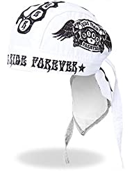 Authentic Bikers Headwraps, RIDE FAST RIDE FOREVER - High Quality Micro-Fiber & Mesh Lining HEADWRAP
