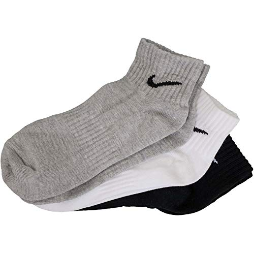 Nike Everyday Lightweight Ankle Socks (3-Pack), Weiß - Grau - Schwarz, S (34-38) Nike Lightweight Sweatshirt