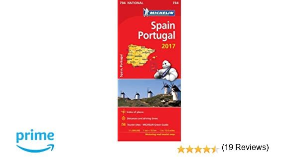 Spain Portugal Michelin National Maps Amazoncouk - Portugal map michelin