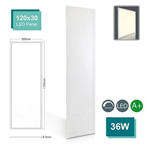 Deckenmontage-wärme-lampe (OUBO LED Panel 120x30 dimmbar Deckenleuchte Neutralweiß 36W, 3000lm, 4000K Wandleuchte dünn Ultraslim Silberrahmen)
