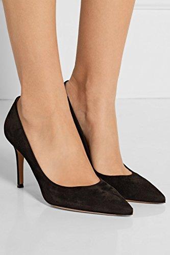 uBeauty Femmes A Enfiler Pointues Toe High Heels Escarpins Quotidiennement des Chaussures Grande Taille Noir C