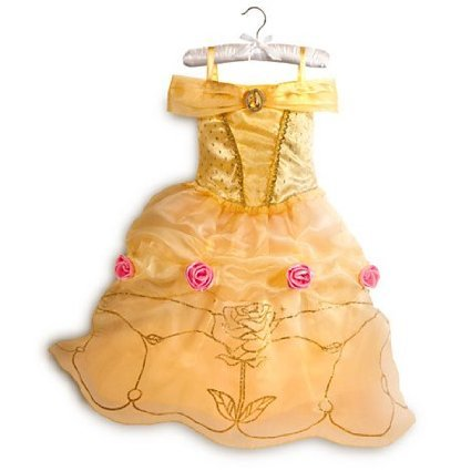 Disney original - Belle - Kostüm für Kinder - Größe 9 / 10 jahre - (Beachten Sie, Tiara-Set, Zauberstab und Kostüm Schuh in Bild sind separat erhältlich) (Disney Chip Und Dale Kostüm)