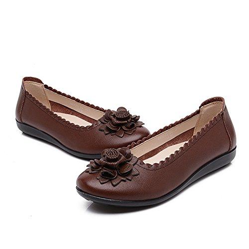 Brève shoes du vent national Womens/Au milieu en bas doux et souliers pour dames âgées vieux/Mère avec des chaussures plates/Chaussures de femmes enceintes B