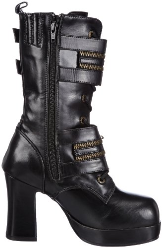 Demonia Gothika-100 Stivali Da Donna Neri (blk Vegan Leather)