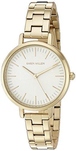 Karen Millen Orologio da Polso, Analogico, Donna, Acciaio Inox, Oro