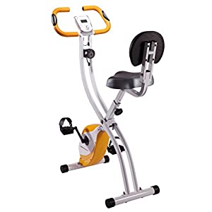 Ultrasport Foldable Exercise Bike With Pulse Sensor Grips