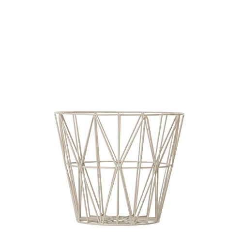 Ferm Living Drahtkorb Korb klein grau Wire Basket - Grey - Small