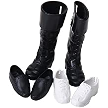 3Pares Muñecas Fashion Zapatos Plásticos 1/6 Príncipe Ken o Figuras Similares 12 Pulgadas