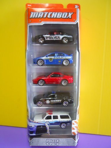 2012-matchbox-police-5-pack-ford-police-interceptor-mitsubishi-lancer-evolution-x-police-porsche-911