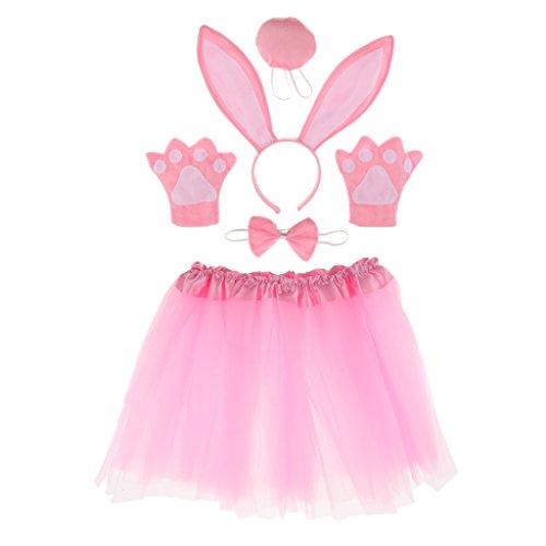 Gazechimp Kind Tier Kostüm Set für Halloween Karneval Fasching - Kaninchen (Baby-schwein Halloween Kostüm)