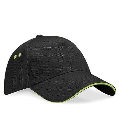 Beechfield Ultimate cap in black / red