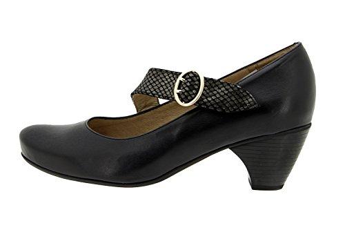 PieSanto model 5403 - Lady's leather shoe wear, comfort, delicate feet, removable insole, special widths, comfortable shoes Noir