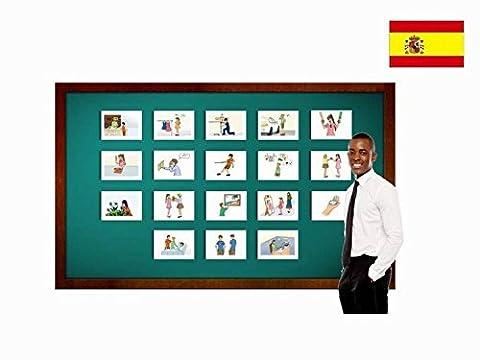 Bildkarten zur Sprachförderung in Spanisch - Verben - Tarjetas de vocabulario - Verbos 4