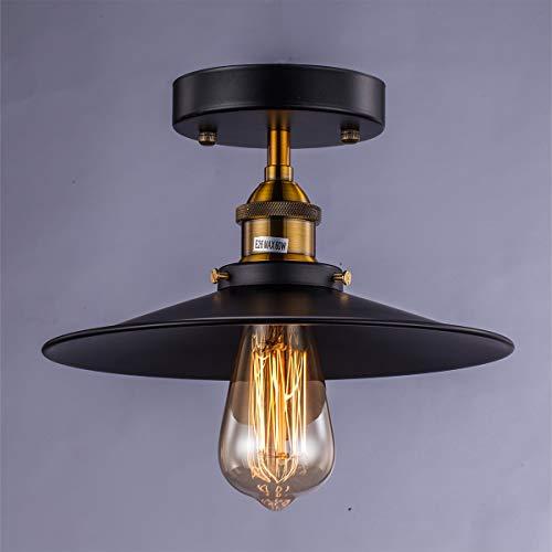 Licperron 1 X E27 Vintage Deckenleuchte Pendelleuchten Industrie Retro Küche Bad Loft Bar Deckenlampe Industrielampe Lampe leuchte -