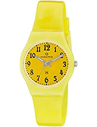 Maxima Analog Yellow Dial Women's Watch - 39434PPKW