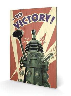 Doctor who victoire d'impression d'art sur bois, petit