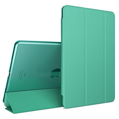 patibel mit iPad Air 1, Ultra-Slim Cover Dünne Tablet Schutzhülle, Kunst-Leder Hardcase Multi-Ständer Tasche, Display-Schutz & Backcover Flip-Case Klapphülle Sleeve - Türkis ()