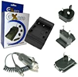 Ex-Pro Panasonic VW-VBN130, VW-VBN260, VW-BC20, VW-BC20EB-K Fast Travel-Pro Charger Panasonic Camcorder [See Description for Models]