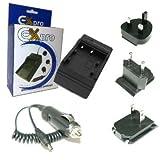 Ex-Pro Digitalkamera Schnell-Ladegerat / Charger / Doppelladegerat fur Ricoh Caplio for GR Digital, GX100, R3