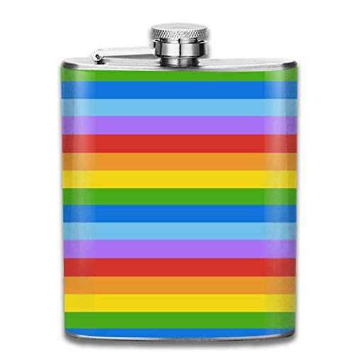 Regenbogen-Stolz-Flaggen-angesagte Edelstahl-Flasche 7 Unze