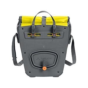 VAUDE Aqua Front –Alforjas delanteras para bicicleta, Juego de 2 bolsas adaptables a la carga e impermeables , Amarillo (Canary), 28 L (2 X 14 L)