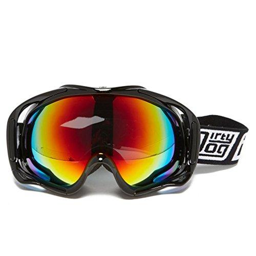 Dirty Dog Goggles 54116 Schwarz glänzend Outrigger Visor Goggles Lens Mirrored