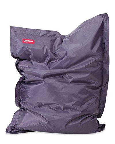 ROOMOX Original Kingsize Sitzsack für drinnen und draußen Stoff 180 x 140 x 30 cm, schwarz
