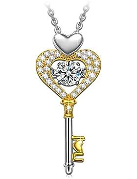 Dancing Heart Schlüssel zur Liebe Damen-Kette Silber 925