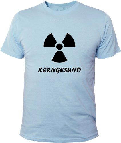 Mister Merchandise Cooles Fun T-Shirt Kerngesund AKW Kernenergie Hellblau