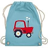 Fahrzeuge Kind - Kinder Traktor - Unisize - Hellblau - WM110 - Turnbeutel & Gym Bag