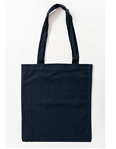 wolle mit langen Henkeln ca. 38 x 42 cm,T-Dunkelblau (Billig Canvas Tote Taschen)