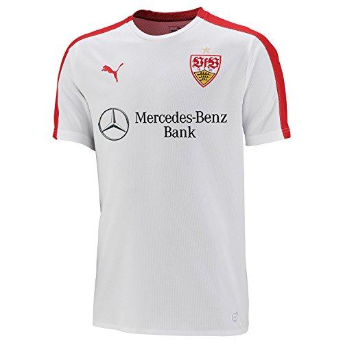 2645f73671cb5 Puma VfB Stuttgart Stadium en Jersey avec Logo Sponsor pour Homme M Puma  White Ribbon