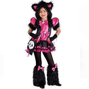 clown republic 18308/08 - Disfraz de gato para niña, multicolor