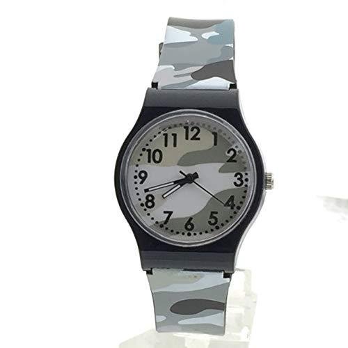 OSYARD Kinderuhr Sportuhr Armbanduhren Uhr,Camouflage Kinderuhr Quarz Armbanduhr für Mädchen Jungen,Analog Quarz Armbanduhr mit Silikon Armband,Rundes Zifferblatt Einfach-Lesen Lernuhr Lila Blau