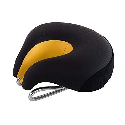 RBS-Bicycle seat Komfort-Fahrradsitz Bequemster Ersatz Fahrradsattel Universal Fit for Heimtrainer Und Outdoor-Bikes Federung Breit Weich Gepolsterter Fahrradsattel (Color : Orange)