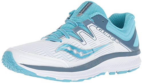 Saucony Women's Guide ISO White/Blue 7.5 B US